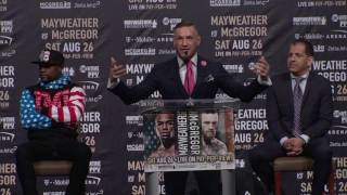Conor McGregor Guarantees He'll Knock Floyd Mayweather Out Within 4 Rounds | ESPN - dooclip.me