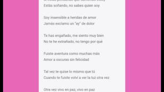 Thalia - Insensible (Lyrics) karaoke