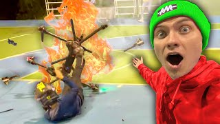 HE CRASHED THE HOVERBOARD!! (Caught on Camera)