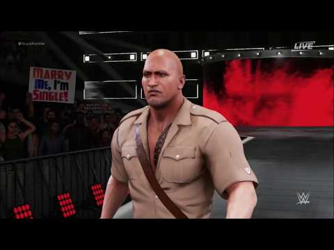 WWE 2k18 Created Superstar Royal Rumble Movie Edition
