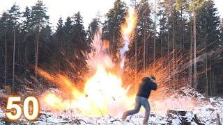 Взрыв 50 мощнейших петард России !