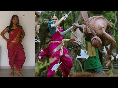 DEVASENA Pink Saree Tutorial | ENTRY SCENE in Bāhubalí