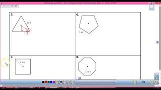 Area Of Regular Polygons Worksheet
