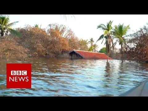 The flooded Cambodian villagers who refuse to move on - BBC News