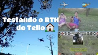 Drone Tello - Teste do Return to home do app Tello FPV