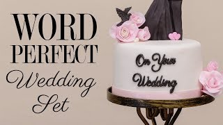 Word Perfect Wedding Set | Add Messages To Wedding Cakes In A Beautiful Script Font