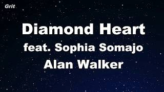 Diamond Heart Feat. Sophia Somajo   Alan Walker Karaoke 【No Guide Melody】 Instrumental