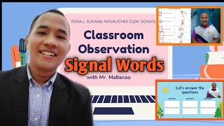 Sample Video Recorded Lesson | Classroom Observation in the New Normal | Topic: SIGNAL WORDS