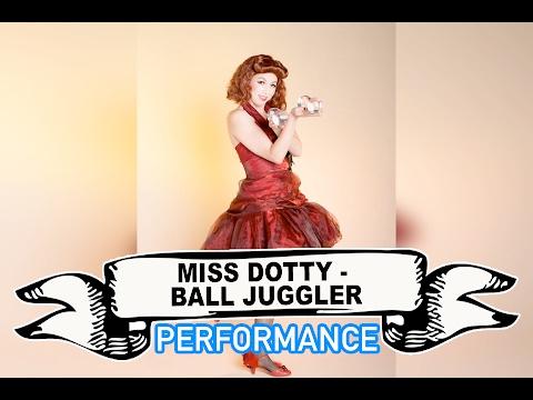 Miss Dotty - Contact Ball Juggler Video