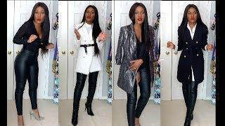 Fall Winter Styling- Fashion Nova Leather Pants