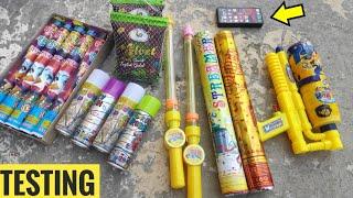 Holi Stash testing 2020,Colour smoke,snow spray,Holi,Holi Stash,Holi testing, Ballons||CY