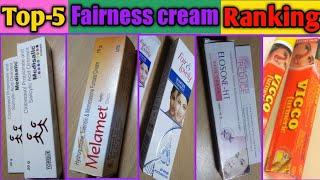 Top-5 Fairness Cream Ranking // Melamet, Elosone-HT, Vicco Turmeric,fair And Lovely Winter,Medisalic