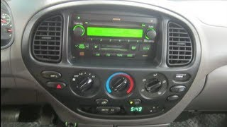 how to remove 2004 toyota tandra car stock deck stereo
