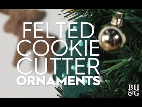 Felted Cookie Cutter Ornaments | Playlist Name | Better Homes & Gardens