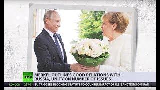 Angela Merkel meets Vladimir Putin in Russia