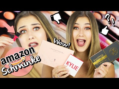 FULL FACE nur AMAZON SCHMINKE!? 😱I Günstige Dupes & Fakes Amazon LIVE TEST I Sara Isabel
