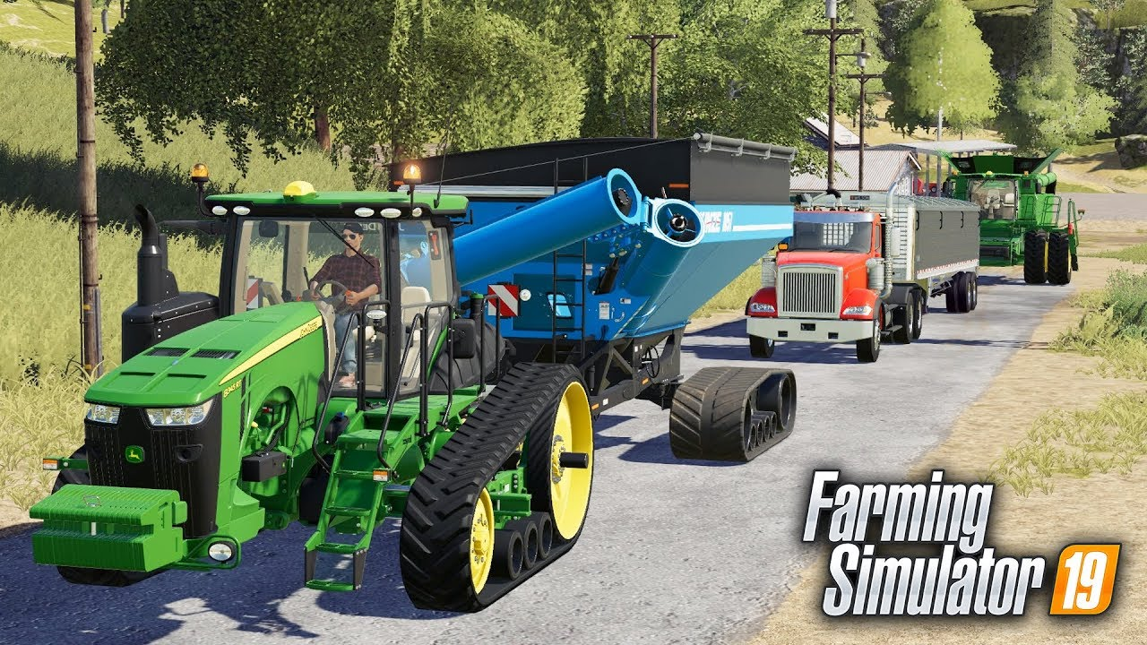 FS19- CUSTOM HARVEST CREW IS A ROLLING! 3 NEW HIRED HANDS