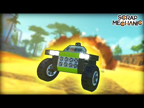 Racing Except Every 10 Seconds Your Vehicle Explodes... (Scrap Mechanic Multiplayer Monday)