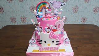 Dekorasi Kue Ulang Tahun Hello Kitty Terbaru Simple Tart Cake | LENSCAKE KDI