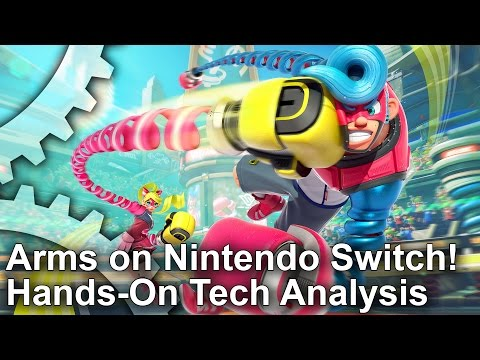 Arms First Look! Nintendo Switch Tech Preview!