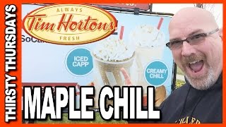 Tim Hortons Creamy Maple Chill Review WARNING: BRAIN FREEZE!