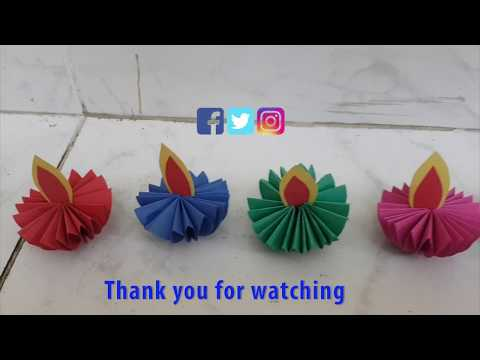 How To Make Paper Diya