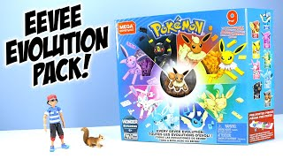 Leafeon  - (Pokémon) - Pokémon MEGA Construx Every Eevee Evolution! Speed Build Toy Review