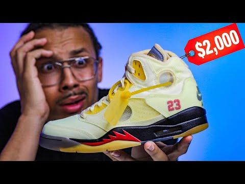 $2,000 For This Off White Air Jordan 5 Sail!? NO WAY!