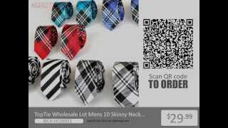 TopTie Wholesale Lot Mens 10 Skinny Neck Tie New Necktie from Opentip.com