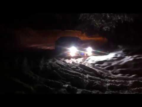 Subaru Legacy 3.0 in snow on summer wheels