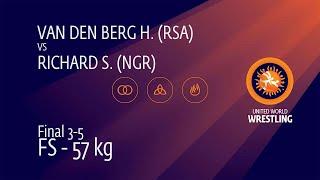 BRONZE FS - 57 kg: H. VAN DEN BERG (RSA) v. S. RICHARD (NGR)