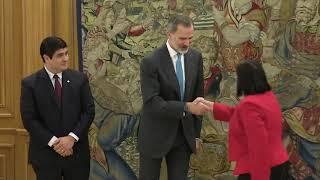 Su Majestad el Rey se reúne con el presidente de Costa Rica, Carlos Alvarado