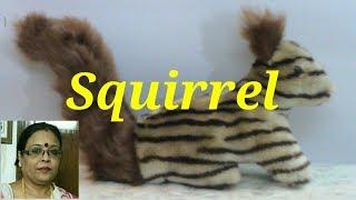 Handmade Soft Toys Squirrel Making (Hindi) /Debjani Creations Tutorial