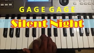 How To Play Silent Night. Christmas Song. Easy Piano Keyboard Tutorial