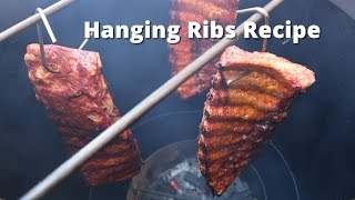 How to Hang Ribs | Hanging Ribs on a Vertical Drum Smoker