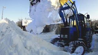 Снегоборьба! КУН Силач и МТЗ-892 = СИЛА!! Убираем снег. #СельхозТехника ТВ