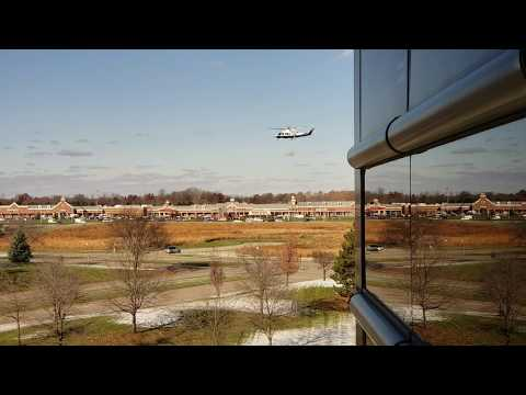 Helicopter takeoff in Dearborn
