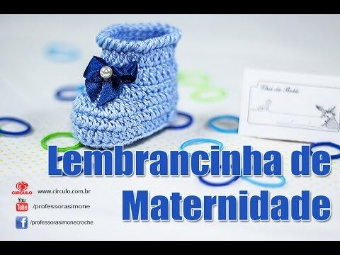 4c1c92700 Lembrancinha Maternidade Botinha em Crochê - Professora Simone - Free video  search site - Findclip