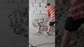 Демонтаж стяжки от застройщика  часть 1