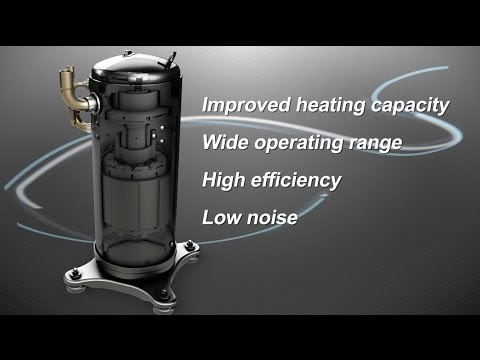 Video SAMSUNG DVM-S (VRF) Scroll DC Inverter Compressor Benefits ~ Redefining A/C Standards [by ESE]