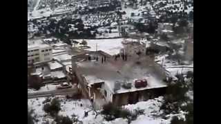 preview picture of video 'نقب الدبور السلط منظر ثلوج وادي شعيب مصعب عطيات 2008 salt'