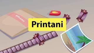 Инфографика  для рекламы мобильного приложения Printani.