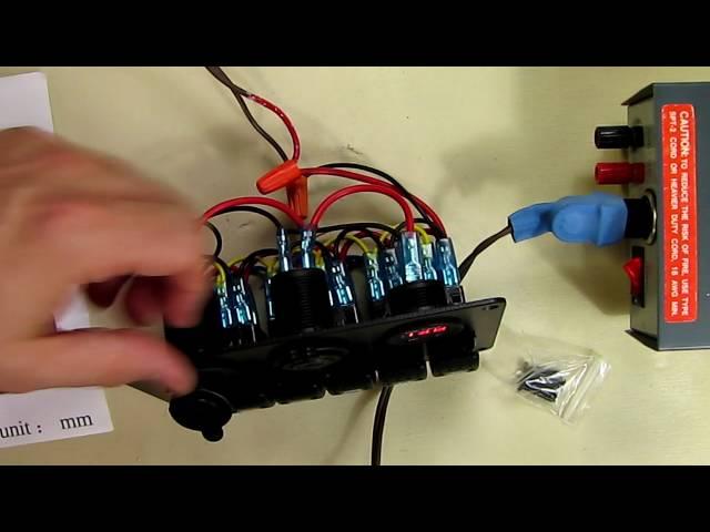REVIEW 6 Gang Waterproof Car Auto Boat Marine LED Rocker Switch Panel
