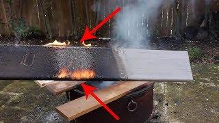 Will Ipe Burn?  How about Azek?  Deck Fire Testing in my Backyard.