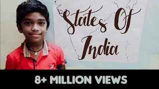 Easy way | States of India | India map for All competitive Exams