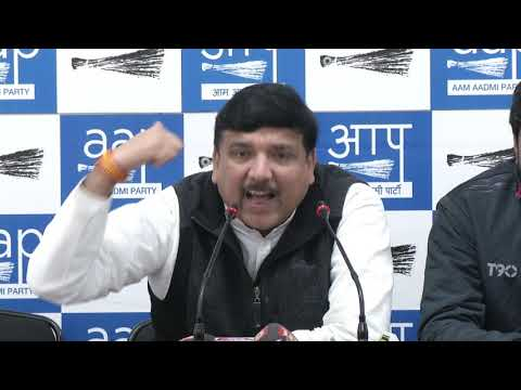 AAP Senior Leader & MP Sanjay Singh's Press Conference.