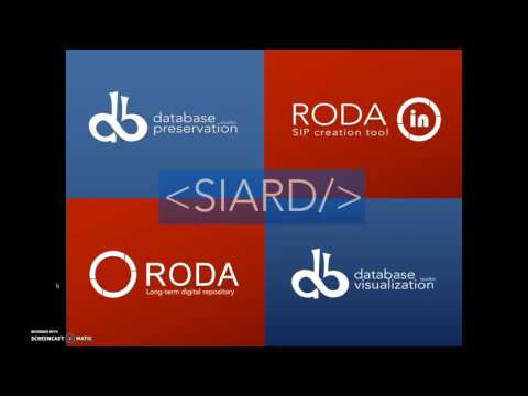 Database preservation workflow screencast