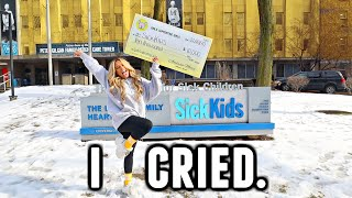 You guys did this. GIRLS SUPPORTING GIRLS DONATES $10,000 TO SICKKIDS!