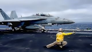 American Aircraft Carrier In Action • USS John C. Stennis
