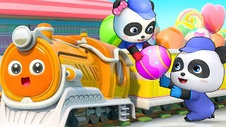 Little Train Song | Colors Song, Monster Car | Nursery Rhymes | Kids Songs | Kids Cartoon | BabyBus